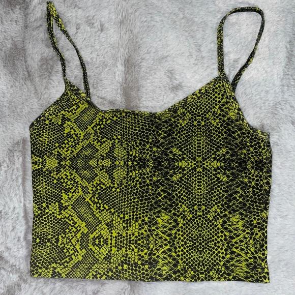 Tna green snake crop top